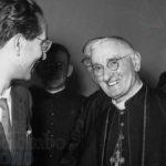 Emilio Colombo e monsignor Augusto Bertazzoni