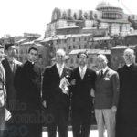 Emilio Colombo con Carlo Carretto e altri giovani di Azione Cattolica, Siena
