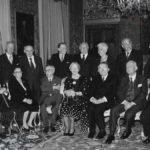 Palazzo del Quirinale, 1996: il Presidente della Repubblica Scalfaro incontra i membri della Costituente ancora viventi (Archivio fotografico Presidenza della Repubblica)