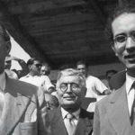 Emilio Colombo e Alcide De Gasperi, visita in Basilicata