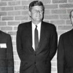 Emilio Colombo con John Fitzgerald Kennedy e Guido Carli