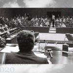 Emilio Colombo Presidente Parlamento UE, Lussemburgo, I marzo 1977 (Communautés européennes 1978)