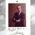 Ritratto autografato di Juan Carlos di Spagna