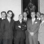 Emilio Colombo con il Ministro dell'Agricoltura e foreste Giuseppe Medici