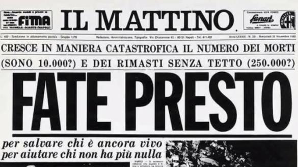 Terremoto. Basilicata 1980-2020